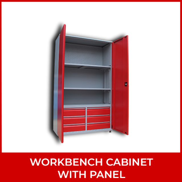Workbench Cabinet with Panel