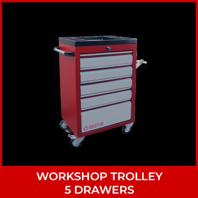 Workshop Trolley – 5 Drawers