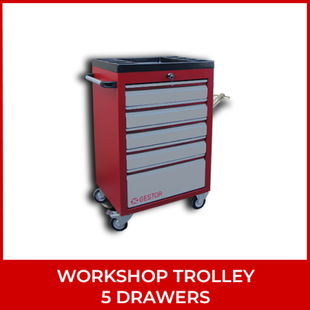 Workshop Trolley – 5 Drawers