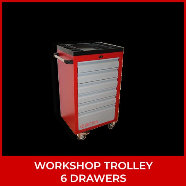 Workshop Trolley – 6 Drawers