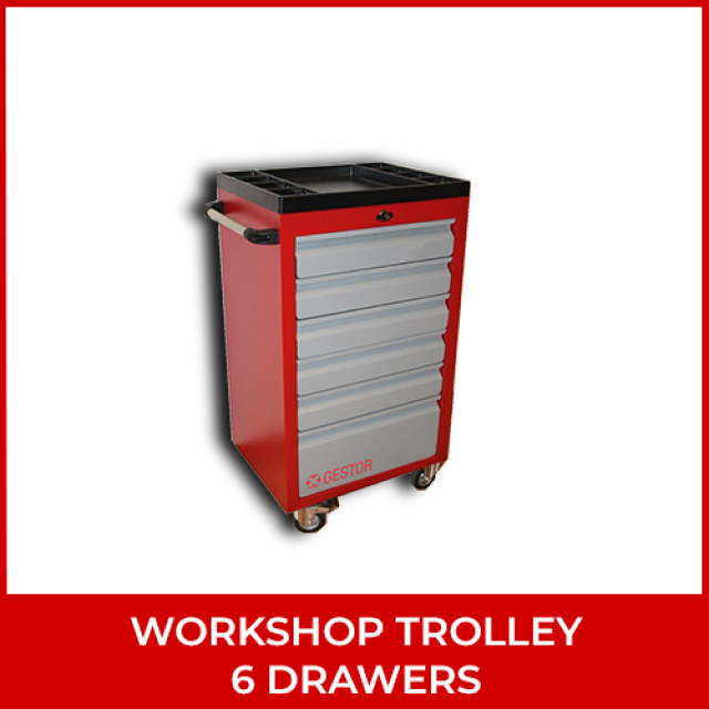 Workshop Trolley – 6 Drawers